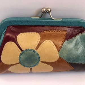 Isabella Fiore bag Clutch Wallet Leather Floral